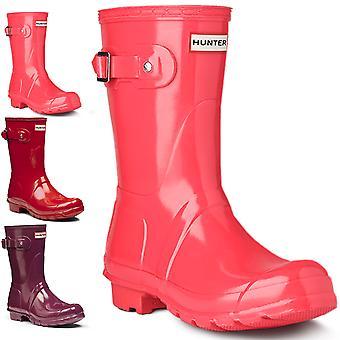 Womens Hunter originele korte Gloss winterfeest regen Wellington laarzen