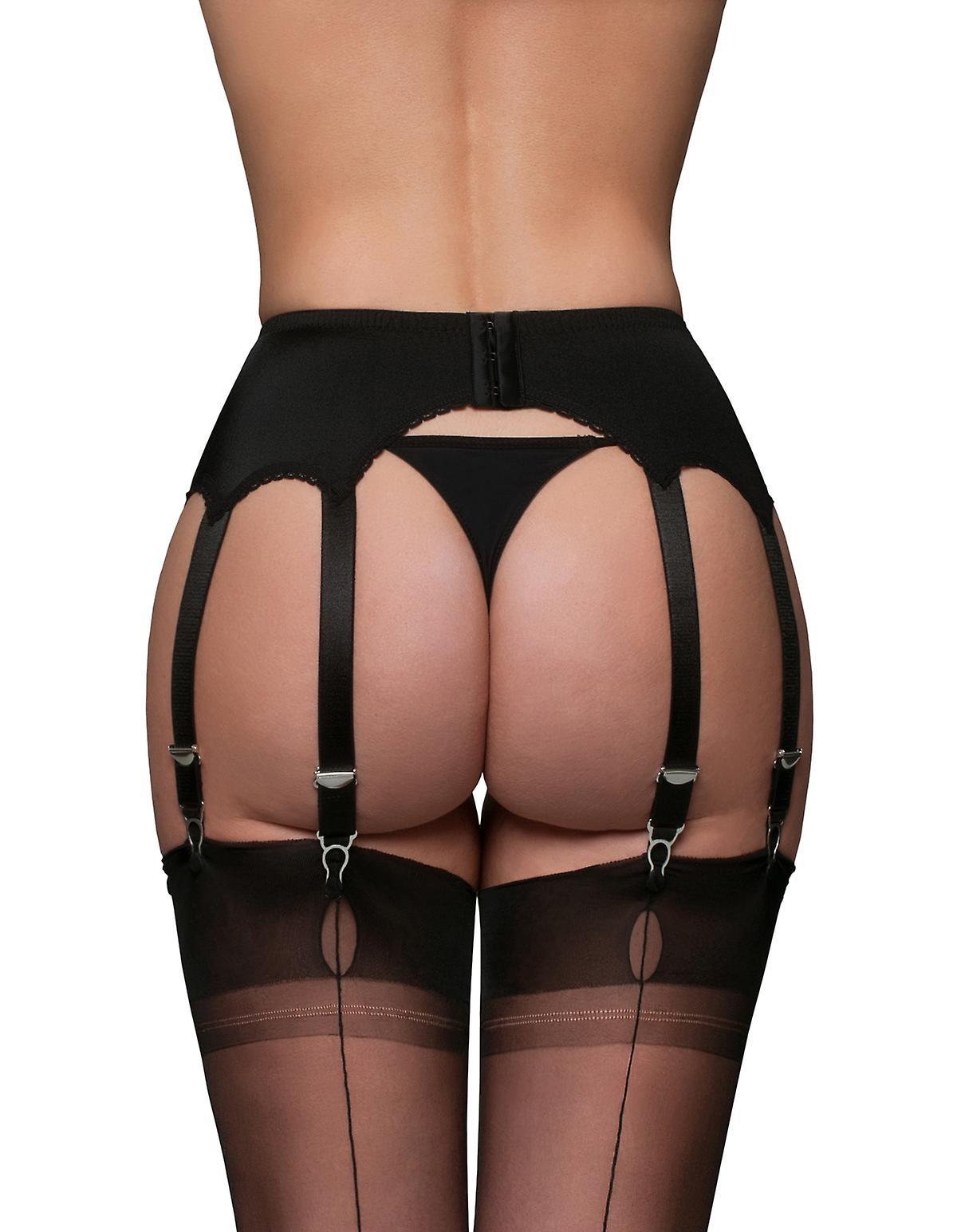 Nylon Dreams NDL10 Women's Garter Belt 10 Strap Suspender Belt