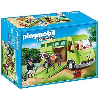 Playmobil 6928 البلد الحصان مربع مع فتح باب جانبي