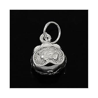 1 x zilver 925 Sterling Zilver 9 x 12mm Lock hangertje/ZX20025