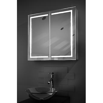 Talia LED Bathroom Cabinet with Demister Pad, Sensor & Shaver k362