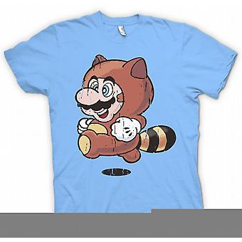 Kids T-shirt - wasbeer Mario - Super Mario geïnspireerd