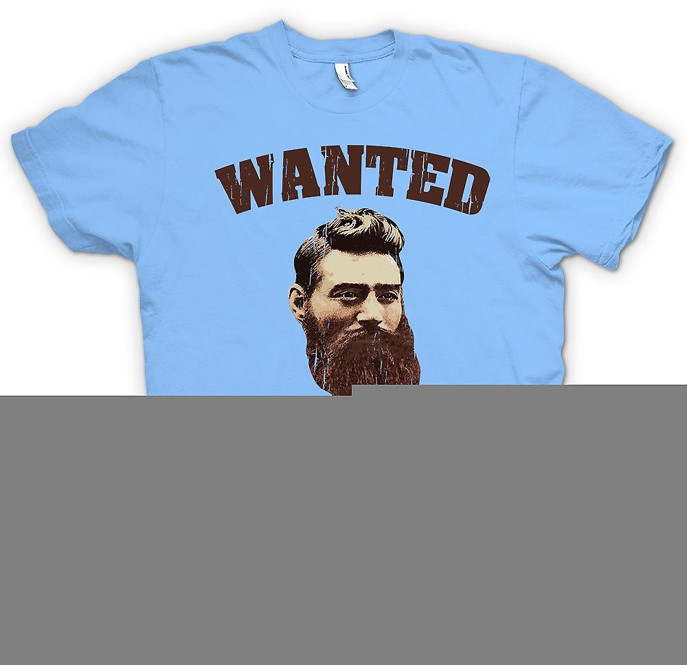 Heren T-shirt - Ned Kelly oude portret - Australische criminele legende