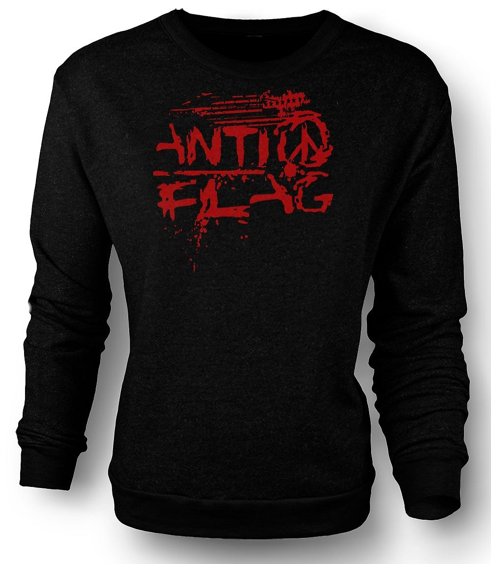 Mens Sweatshirt Anti - Flag - U.S. - Punkband - Anarchy