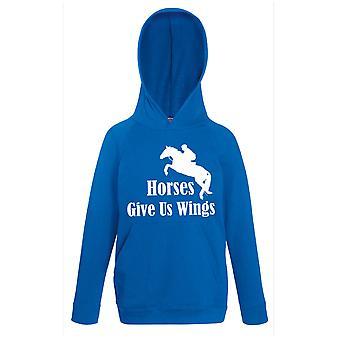 Hester gi oss vinger kongeblå Hoody