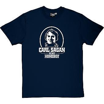 Carl Sagan ist mein Homeboy Herren T-Shirt