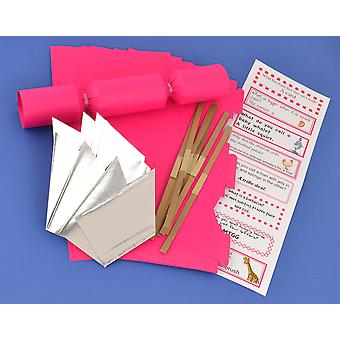 8 MINI Hot Pink faire & remplir votre propre Cracker faire Craft Kit