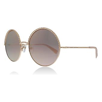 Marc Jacobs MJ169/S EYR0J Copper Gold MJ169/S Round Sunglasses Lens Category 3 Lens Mirrored Size 57mm