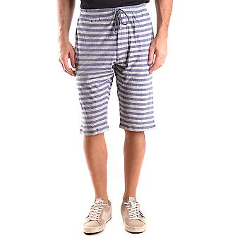 Shorts de algodão azul Y-3