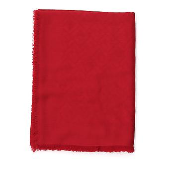 Fendi Red Silk Scarf