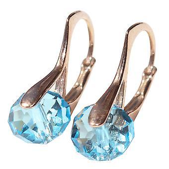 Superbes Briolette des femmes autour de cristaux de Swarovski boucles d'oreilles