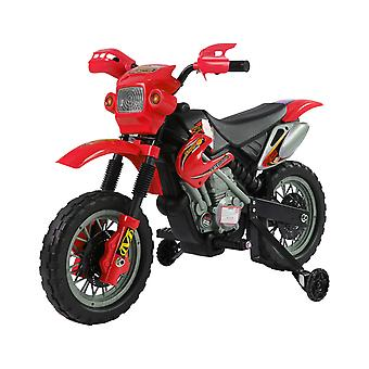 HOMCOM Kids Electric Motorbike Child Ride on Motorcycle 6V Battery Scooter (Red)