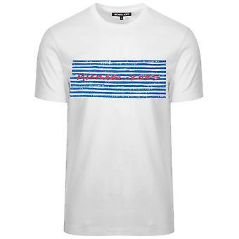 Michael Kors Michael Kors White markør trykt logo T-skjorte