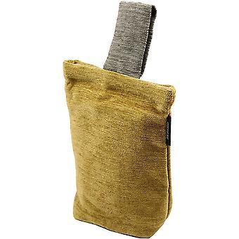 Mcalister textiles alston chenille jaune - arrêt de porte gris