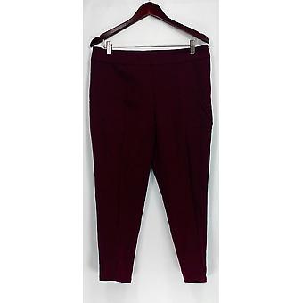 Isaac Mizrahi Live! Petite Pants 24/7 Stretch Side Red A258772