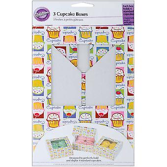 Cupcake Boxes 3 Pkg  Holds 4 Cupcake Heaven W1206