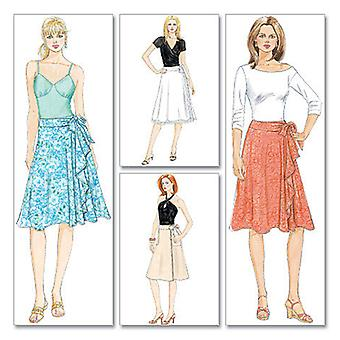 Misses' Wrap Skirts Aa 6 8 10 12 Muster M5430 Aa0