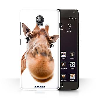 STUFF4 Case/Cover voor Lenovo Vibe P1/close-up Giraffe/grappige dieren