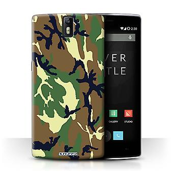 STUFF4 Case/Cover voor OnePlus One/groen 4/Camouflage Army Navy
