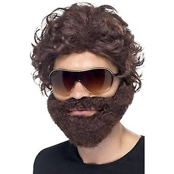 Smiffys Stag Do Kit Brown With Wig Beard And Sunglasses (Kostuums)