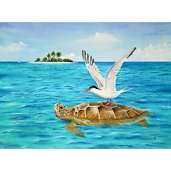 Turtle Island Poster Print by Carolyn Steele
