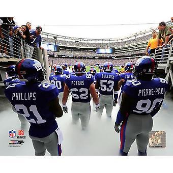 De New York Giants 2010 Team introductie foto afdrukken