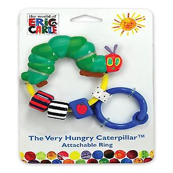 Rainbow Designs The Very Hungry Caterpillar Attachable Ring Rattle