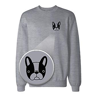 French Bulldog Pocket Print Sweatshirt Back To School Sweat Shirt