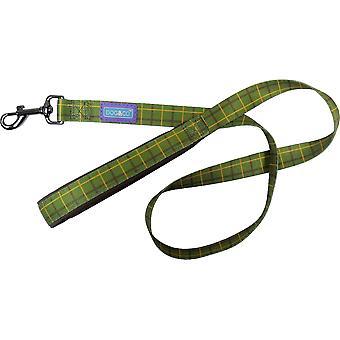 Hund & Co Nylon bly polstret håndtag luksus grøn Check 1