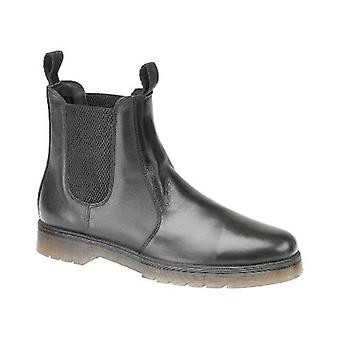 Amblers Mens Colchester Boots Textile Leather PVC Slip On Fastening Footwear