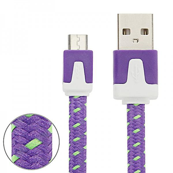 3m USB data and charging cable for all Smartphone and Tablet micro USB purple