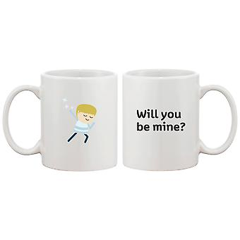 Will You Be Mine Matching Couple Mugs Great Gift Idea for Holiday