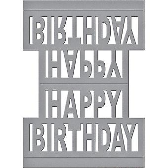 Spellbinders Shapeabilities Dies-Happy Birthday Pop Up S4717