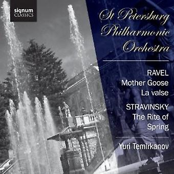 Ravel/Stravinsky - Ravel: Mother Goose; La Valse; Stravinsky: The Rite of Spring [CD] USA import
