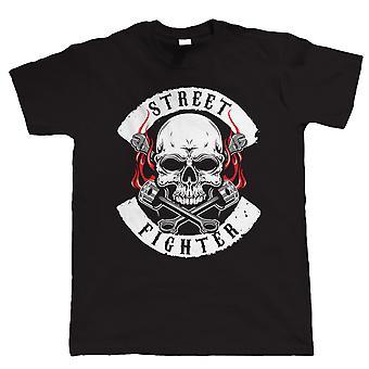 Vectorbomb, Street Fighter, Mens Biker T Shirt (S till 5 XL)