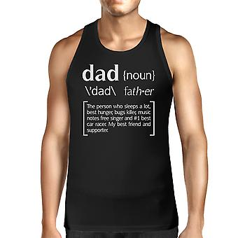 Dad Noun Mens Black Sleeveless Tee Funny Birthday Gifts For Dad