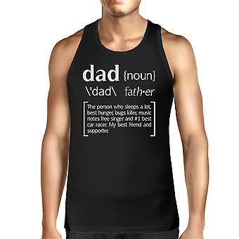 Regalos de cumpleaños divertido papá Sustantivo negra para hombre camiseta sin mangas para papá