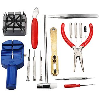 TRIXES 16 Piece Watch Repair Kit Set & Wrist Strap Adjust Pin Tool Kit Back Remover Fix