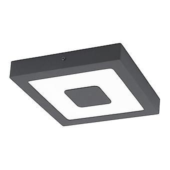 Eglo IPHIAS Square Outdoor Ceiling Wall Light Black