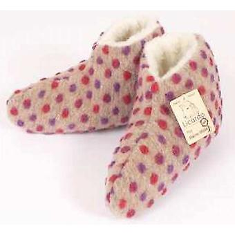 Bed shoes wool nubs beige 42/43