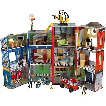 KidKraft Everyday Heroes Wooden Play Set (Toys , Constructions , Buildings)