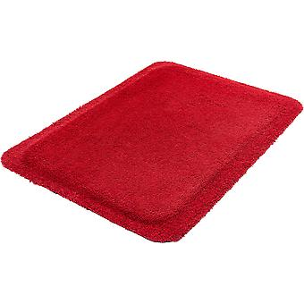 Anti fatigue mat red stand on shelves of wash + dry