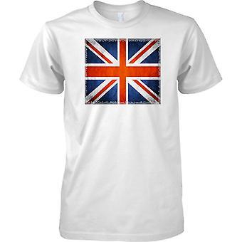 Union Jack Flag - Square Edge Effect - Mens T Shirt