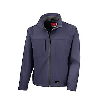 Result Mens Classic Softshell Breathable Weatherproof Jacket