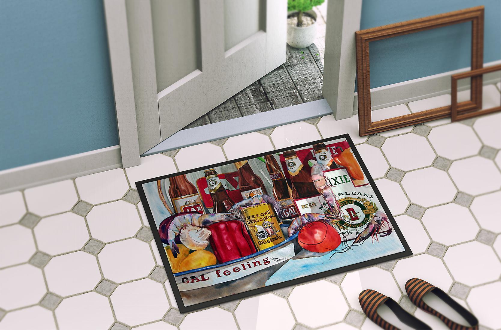paillasson tapis intrieur ou extrieur 18 x 27 de veron et de bires de la nouvelle orlans carolines treasures paillassons