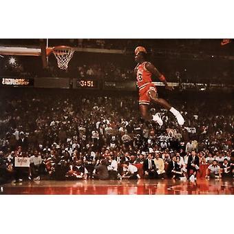 Michael Jordan Slam Dunk Poster Poster Print