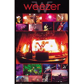 Weezer - Live Collage Poster Poster Print