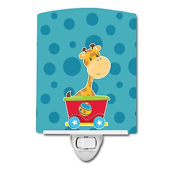 Carolines Schätze BB8708CNL Zirkus Giraffe Zug Auto Keramik Nachtlicht