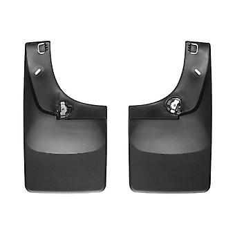 WeatherTech Mud Flap DigitalFit Direct-Fit Set of 2 Contoured Without Logo - Black 110002