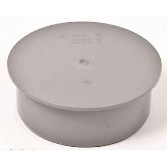 Rifiuti tubo 50mm Cap / Stop End - Push-Fit / compressione - grigio